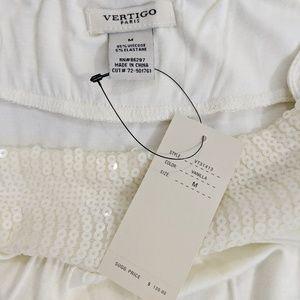 Vertigo Paris Dresses - Vertigo Paris Vanilla Sequin Mini Dress